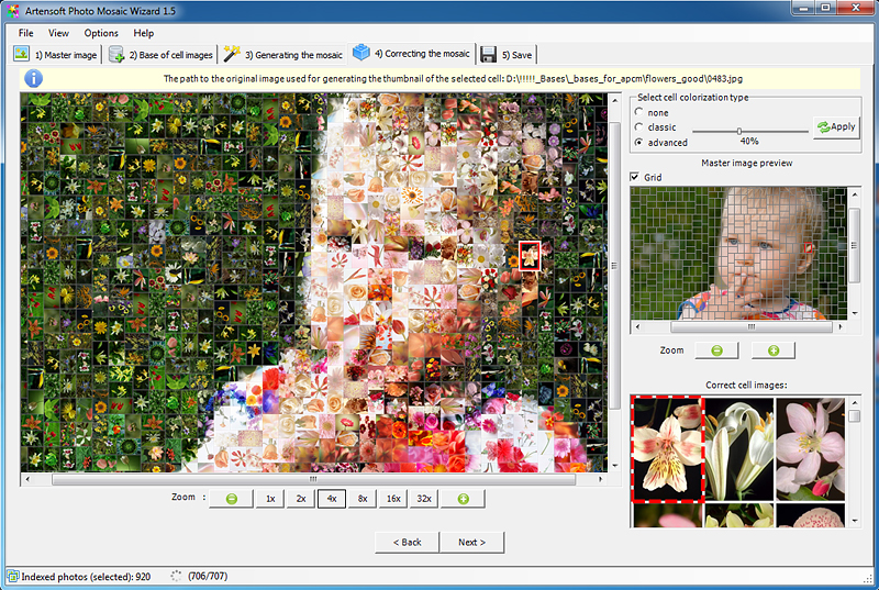 Artensoft Photo Mosaic Wizard Screen shot