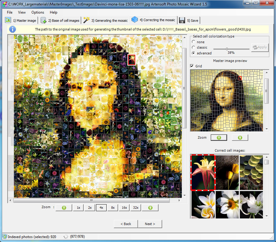 Artensoft Photo Mosaic Wizard Screenshot