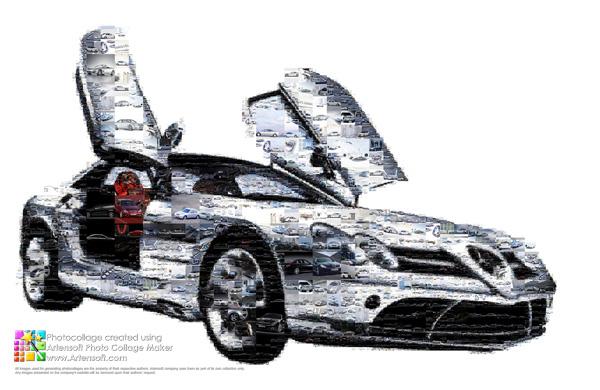 """Автоколлаж из фотоподборки """"Mercedes"""""""