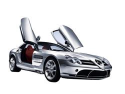 Основа Фотоколлажа Автомобиль Mercedes