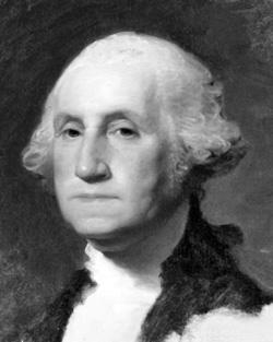 Основа Фотоколлажа Портрет Джорджа Вашингтона