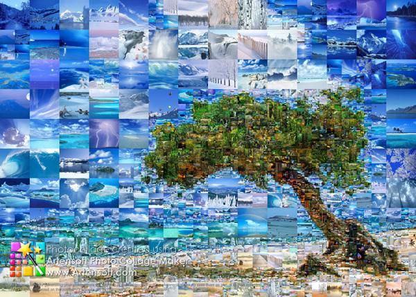 Дыхание моря и нежный песок в коллаже, созданном из фотографий красивейших уголков земного шара