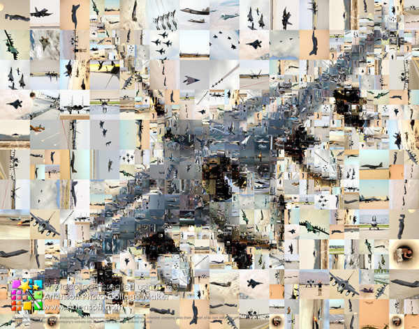 Авиационный фотоколлаж