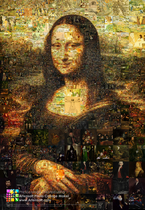 "Collage ""Mona Lisa"""