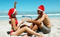 Основа Фотоколлажа Новый год на пляже