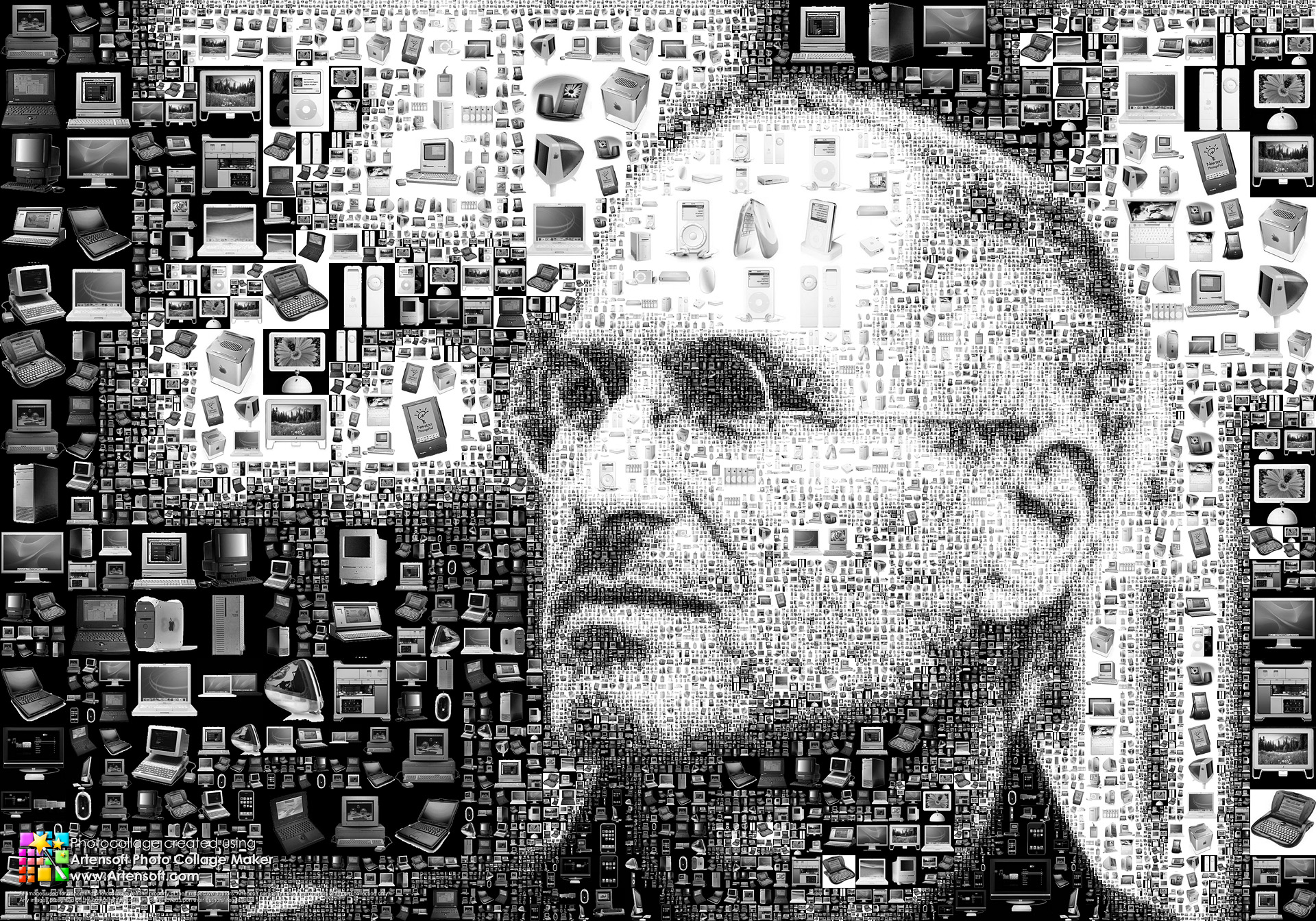 Steve Jobs photo collage