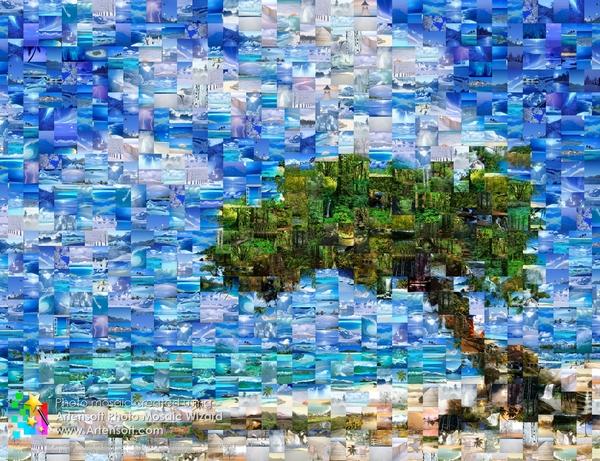 Mit Artensoft Photo Mosaic Wizard können Sie ein beeindruckendes Fotomosaik erstellen