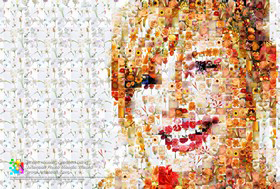 Ein mit Artensoft Photo Mosaic Wizard erstelltes Mosaik, klassisches Fotomosaik