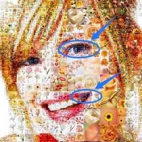 Artensoft Photo Collage Maker: Hohe Detailgenauigkeit der Fotocollage, genaue Farbentsprechung