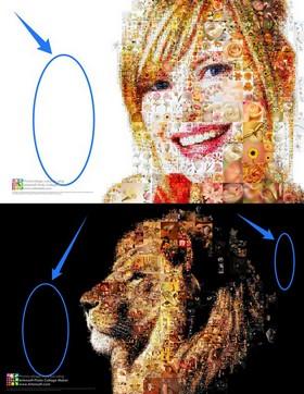 Im Programm Artensoft Photo Collage Maker kann der Hintergrund aus der Konstruktion der Collage entfernt werden