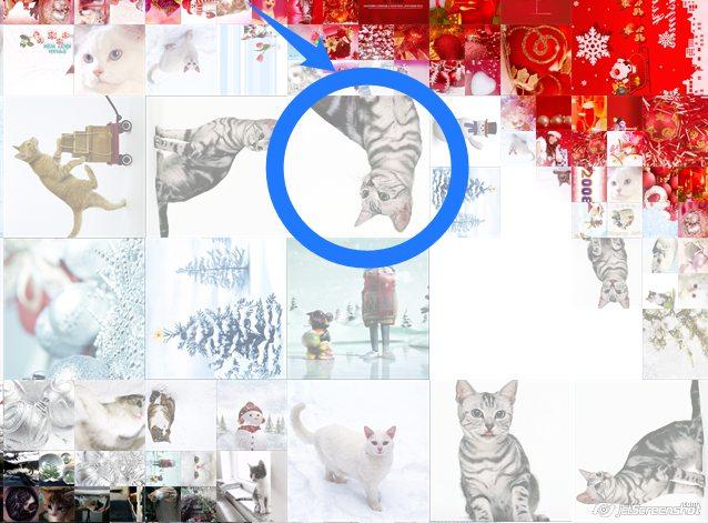 Чтобы сделать коллаж более естественным, можно отменить использование перевернутых мини-изображений
