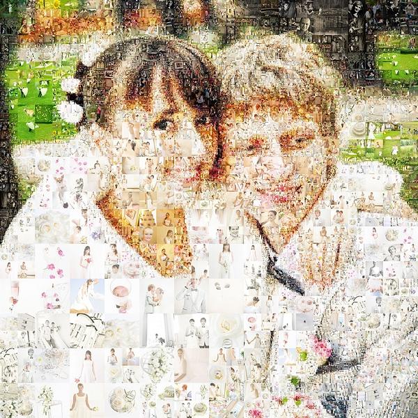 Свадебный коллаж, сделанный в программе Artensoft Photo Collage Maker